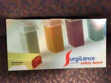New listing Surgilance #Sln240 Safety Lancet 22g Orange 2.2mm - 100/bx