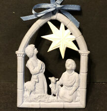 Wedgwood Jasperware Blue Nativity Shepherd & Star Ornament No Box