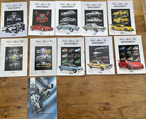 11 x Minichamps & BMW Colour catalogues 2000 to 2018 F1 Hamilton Senna VW GTR