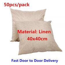 HOT! Linen Sublimation Blank Pillow Case Cushion Cover 50pcs/pack