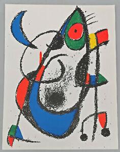 8663008 Original-Farblithographie Miró, Mondmäuschen Paris 1975 32x24,5cm