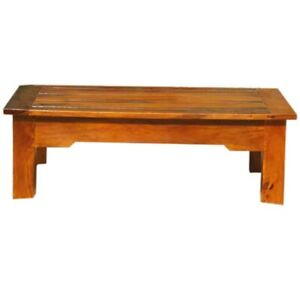 MADE TO ORDER Avalon Handcrafted Rectangular Solid Wood Coffee' 90 X 60 X 45 CM