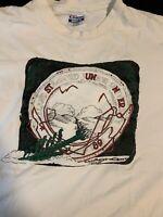 Men's Vintage 1989 Stanford University Single Stitch 2 Sided White T Shirt XL