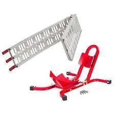 Warrior Aluminium Folding Loading Ramp And Wheel Chock Bike / Motorcycle Combo