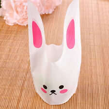 50PCS Pink Bunny DIY Party Favor Candy Cookies Treat Cello Plastic Gift Bags