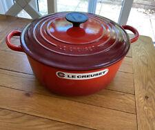 LE CREUSET Cast Iron Round Casserole Dish 26 cm, 5.3litre - Cerise