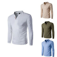 Slim Fashion Shirts Men's Men T Casual Tee Shirt Tops Cotton Long Sleeve