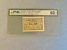 Senegal P-1b - 1/2 Franc; 1917; PMG Graded 63 EPQ