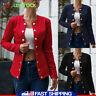US Women Slim OL Suit Casual Solid Button Blazer Outwear Long Sleeve Coat Jacket