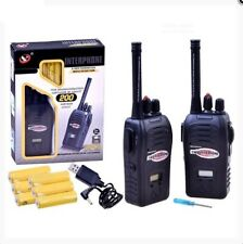 2x Two way Radio 200m range USB charged. New Generation Noise reduction tech