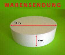Styropor-Scheibe Ø 15 Höhe 8 cm Torte Rohling Dummy Hochzeit Cake Grundlage rund