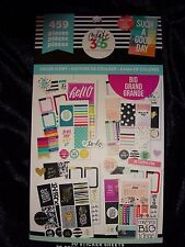 Happy Planner COLOR STORY STICKER BOOK 30pgs 459 pcs. Well balanced Variety (bl)