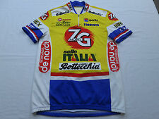 EUC Mens Sportful Bottecchia Selle Italia Bright Hi Viz Bike Cycling Jersey Sz M