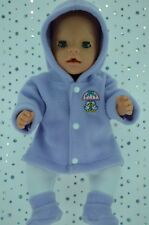 "Play n Wear Doll Clothes To Fit 17"" Baby Born LILAC JACKET~TIGHTS~BOOTIES"