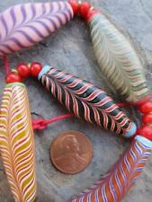 Vintage Glass Feather Beads [68498]