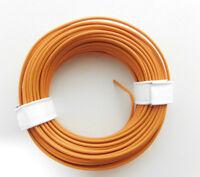 10 m Litze/Kabel ORANGE z.B. für Märklin Spur H0 Modellbahn oder N,tt etc.