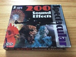 RARE! SPECTACULAR: 200 SOUND EFFECTS - 2x AUDIO SAMPLE CD