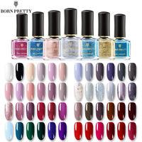 58Colors Nail Polish Peel Off Manicure Varnish Multi-Color Nails 6ml BORN PRETTY