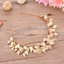 Women's GOLD LEAF FASCINATOR HEADBAND Hair Accessory Spring Racing Cup Vintage