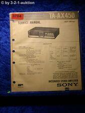 Sony Service Manual TA AX450 Amplifier (#3704)