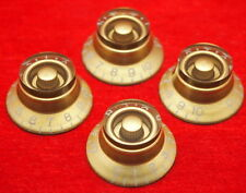 4x Gibson/Epiphone Vintage Gold Top Hat Bell Knobs For Les Paul Junior ES335 New