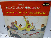 33RPM Vinyl Jazz Record The McGuire Sisters Teenage Party Coral LVA 9073  G/VG