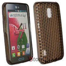 Cover Custodia Per LG L7 II 2 Optimus P710 Nero Silicone Gel TPU + Pellicola