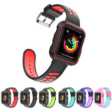 38/42mm Silicone iWatch Band Sport Wrist Strap With Frame for Apple Watch 1/2/3