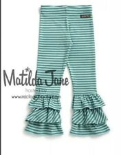 Matilda Jane Size 12 Once Upon A Time Mischief Benny's Ruffle Striped Pants