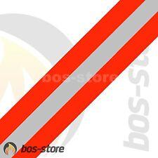Feuerwehr Reflexstreifen für HuPF Jacke o. Hose, leuchtrot/silber/leuchtrot, neu