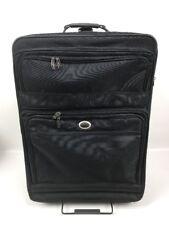 """Atlantic Large 31"""" Rolling Luggage Suitcase Expandable Soft Black"""