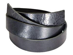 "Vintage Glazed Water Buffalo Leather Belt Strips, Aniline Dyed 52"" - 60"" Straps"