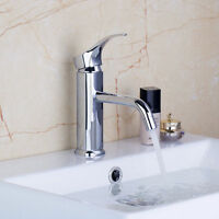 Simple Stainless Steel  Bathroom Vessel Sink Faucet Single Hole/Handle Mixer Tap