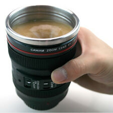 Camera Lens Mug Tea Coffee Cup Self Stirring Mug Stainless Steel & Lid