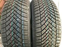 2 NEW 195 55 16 CONTINENTAL ALL SEASON CONTACT TYRES M+S 195/55 R16 91H