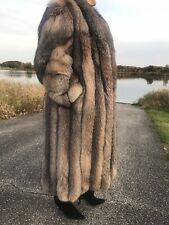 Crystal Fox Fur Coat,Size M  spiral sleeves