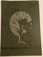1940's WWII War Era Menu George Mardikian's OMAR KHAYYAM'S  San Francisco CA