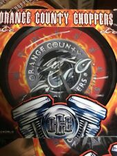 NOS Bioworld OCC Orange County Choppers Flame Collectors Wall Clock DEADSTOCK