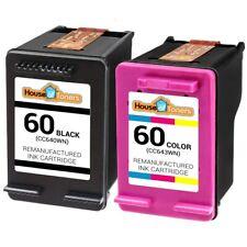 2PK #60 Ink for HP Photosmart C4600 C4610 C4635 C4640 C4650 C4680 C4683 C4685