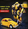 LARGE TRANSFORMERS 5 THE LAST KNIGHT BUMBLEBEE VOLKSWAGEN BEETLE CAR KIDS KO TOY