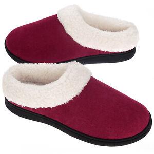 VONMAY Women's Cozy Memory Foam Slippers Wool-Like Plush Comfort House Shoes