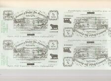 More details for wales  black  sheep  co  uncut  sheet  of  four  notes  5  swllt  consecutive