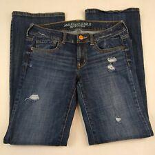 American Eagle Women Jeans Size 6 Favorite Boyfriend Stretch Distressed Blue