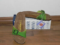 Damen Birkenstock Gr. 35 Madrid active green 1 Riemchen Made in Germany Kork