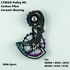 LTWOO Ceramic Bearing Carbon Fiber Bike Rear Derailleur Cage Pulley Wheel Kit