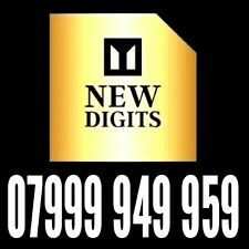 GOLD VIP EXCLUSIVE 999 UK MEMORABLE MOBILE PHONE NUMBER SIM CARD 9999999