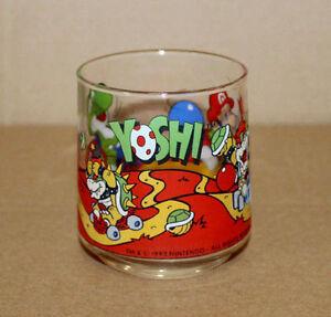 1993 Nintendo Super Mario World Yoshi Luigi Kart Bowser Vintage Glass Motive 9