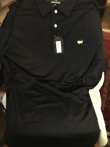Masters 2020 Golf Polo Shirt Black S/S Mens Size XXL NEW