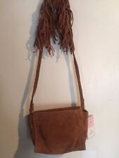 NWT Zara TRF Collection Vintage Cross Body Suede with Fringe Bag
