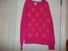 OLD NAVY GIRLS SIZE XL PULLOVER SWEATER  LONG SLEEVES HOT PINK ORANGE